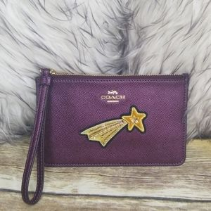 COACH SMALL SHOOTING STAR WRISTLET NWT